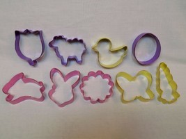 9 Easter Holiday Metal Cookie Cutters Pastel Egg Butterfly Tulip Rabbit ... - $18.99