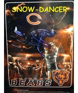 "Chicago Bears Football Team NFL 60"" x 80"" Royal Plush Raschel Throw NIP - $69.99"