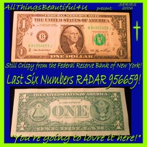 2006 Federal Reserve Bank of NY Still Crispy Note Last 6 Numbers RADAR! ... - $7.25