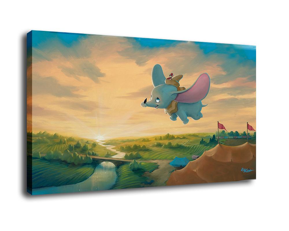 cartoon Art Oil Painting Print On Canvame s HoDecor  elephant