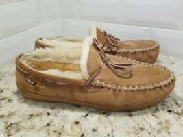 LL BEAN Mens Wicked Good Moccasin Shearling Slippers Size 11 M  - $27.96