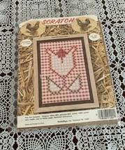 Brand New Needlemagic Chicken Scratch Kit 1201 Tulip Design 5 x 7  For C... - $11.49