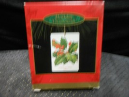 "Hallmark Ensemble ""American Holly Stamp Image"" 1997 Ornament USED See De... - $4.85"
