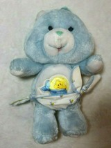"Care Bear Blue Baby Tugs Bear with Diaper 12"" Plush Stuffed Vintage 80's... - $21.77"