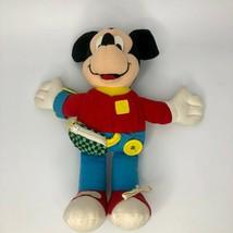 "Mattel Disney Mickey Mouse Teach Me Stuffed Plush Learning Toy 14"" Vinta... - $16.69"