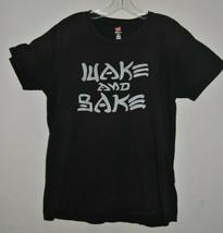 Wake And Bake Sarcastic 420 Stoner Marijuana Adult  Crewneck T Shirt Large - $5.99