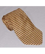 Seville Row Men's Neck Tie Gold Diamond Pattern 100% Silk   (C10) - $3.58