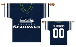 "Seattle Seahawks 34"" x 30"" 2-Sided Jersey Banner  - $42.95"