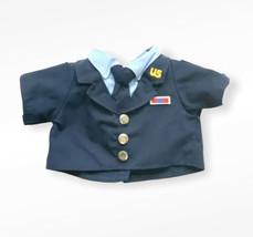 Build A Bear Military Navy Outfit Top Clothing Shirt BAB Plush Doll Clot... - $10.88