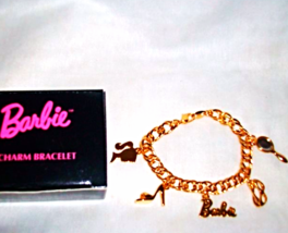 Barbie Charm Bracelet Shoe Glasses Mirror silho... - $19.99