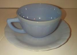 Vintage Light Blue Pyrex Tea Cup & Saucer 6 Sets Available - $15.00