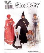 1990 Misses' Costume WITCH, ANGEL, PILGRIM Simplicity Pattern 9809 Sizes PT-LG - $10.00