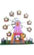 "MS488 - Collectible Tin Toy - Musical Ferris Wheel - 8.5""H x 9""W x 2.5""D - $36.25"