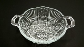 INDIANA GLASS CO. KILLARNEY HANDLED FLORAL BONB... - $34.60