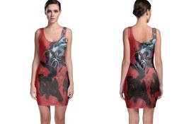 X Men Wolverine Wallpaper Bodycon Dress - $21.99+