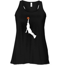 Basketball Player Dunk Silhouette Professional Sports Flowy Racerback Tank image 1
