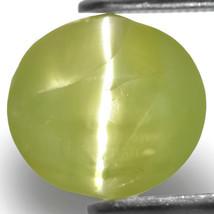 INDIA Chrysoberyl Cat's Eye 8.04 Cts Natural Untreated Bright Greenish Y... - $1,608.00