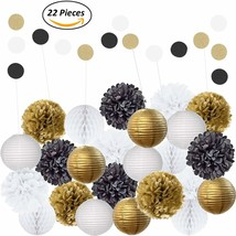 Amazing 22Pcs Mixed Black Gold & White Party Decorations By Epique Occas... - ₨1,469.85 INR