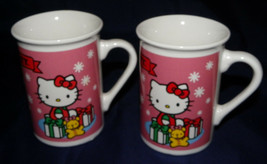 Hello Kitty Cup Mug Lot of 2 Sanrio 1976 2013 Hello Kitty Mugs Cups Holiday - $12.99
