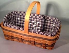 Longaberger JW Mini Miniature Gathering Basket Combo Liner Protector - $49.00