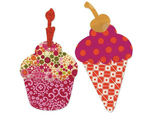 Sizzix Fabi Ice Cream & Cupcake Shape-Cutting Die, Perfect for Quilting and More