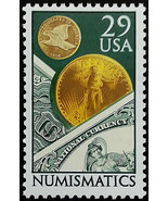 1991 29c Numismatics, Coins & Currency Scott 2558 Mint F/VF NH  - $0.99