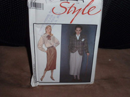 Style 1106 Misses Lined Jacket, Shirt, and Fly-Front Skirt Size 8  New - Uncut - $8.00
