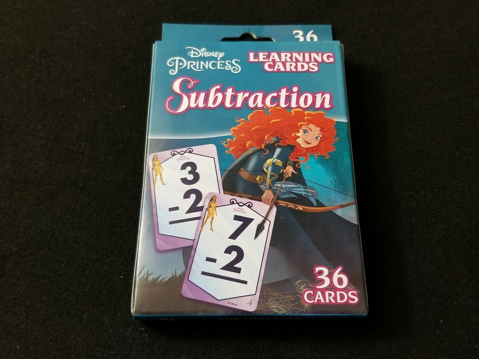 Disney Princess Addition and Subtraction Learning Flash Card Set