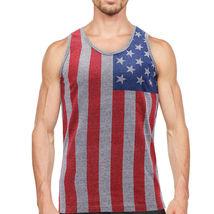 Men's USA American Flag Sleeveless Shirt Summer Beach Patriotic Tank Top image 5