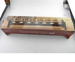 """NEW ELEMENTS METAL 7 GLASS TEA LIGHT CANDLES HOLDER CENTERPIECE 18"""" 45.7 cm - $29.39"""