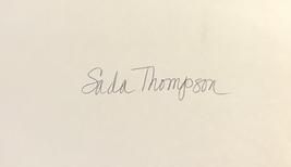 Sada Thompson Autographed Hand Signed 3x5 Index Card Desperate Characters w/COA - $12.99