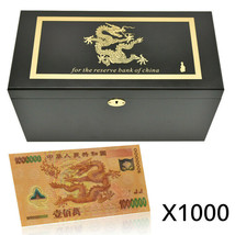 WR 1000pc Gold Chinese Dragon ¥1 Million Banknote Novelty Bill Collectio... - $999.00