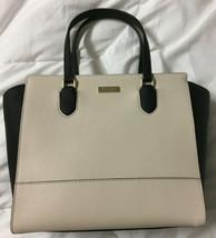 NWT Kate Spade Hadlee Laurel Way White / Black Saffiano Leather satchel ... - $178.85 CAD