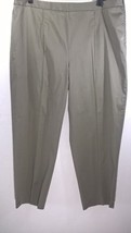 "TALBOTS Women's Dress Pants Olive Green Cotton/Spandex 7"" Zipper Left Si... - $19.99"