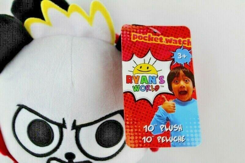 "Ryans World 10"" Plush Panda New With Tags Black White Red Pocket Watch  image 6"