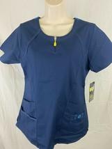 Wonder Wink Flex Scrubs Womens Size Small Short Sleeve Dark Navy New With Tags - £9.35 GBP