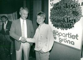 Bengt Westerberg  fp  and Åsa Domeij  mp  - Vintage photo - $20.21