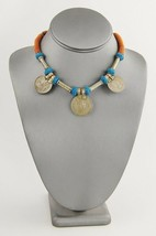 "VINTAGE Jewelry BOHO CHIC TRIBAL COIN NECKLACE FROM INDIA - 15"" - $15.00"
