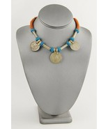 """VINTAGE Jewelry BOHO CHIC TRIBAL COIN NECKLACE FROM INDIA - 15"""" - $15.00"""