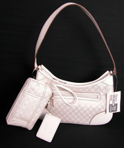 Villager Liz Claiborne Shoulder Purse Satchel Handbag Vanilla Diamond Vtg New - $17.99
