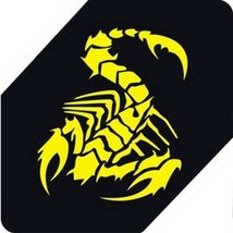 "Scorpion Car Decals Car Sticker Cool Stickers Car Window Sticker YELLOW (5.9"")"