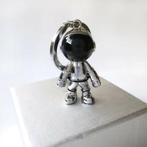 Spaceman Keychain Astronaut Space Keyring Bag Charm Silver Gold Key Chai... - $7.99