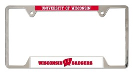 Wisconsin Badgers Heavy Duty Chrome Metal License Plate Frame - $13.95
