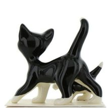 Hagen Renaker Cat Black and White Tuxedo Papa and Kitten Ceramic Figurines image 6