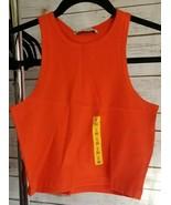 Pull and Bear Shirt Top Women's Size Small (36 EU)(3 US), Orange, Sleeve... - $3.91