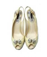 Auth LOUIS VUITTON Patent Damier Azur Saint Honore Slingback Heels 39.5 ... - $317.90