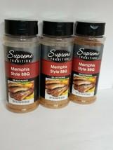 New 3 X 10.5 oz Supreme Tradition Memphis Style BBQ Seasoning - $19.79