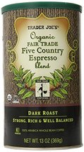 TRADER JOES Organic Fair Trade Five Country Espresso Blend 100% Arabica ... - $22.99