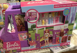 Barbie Food Truck With Multiple Play Areas & 30+ Realistic Play Pieces K... - $58.19