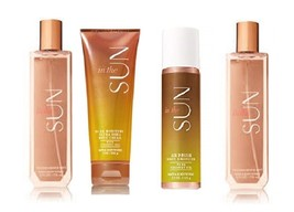 4 Piece Bath & Body Works In The Sun Moisture Cream, Mist, Air Brush Bronzer - $28.95